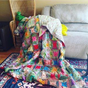 Vintage quilted blanket